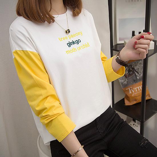 [가.격.인.하 70% SALE] 레터링 컬러배색 티셔츠[TS#2942]