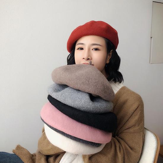 [당일발송][50% SALE] 울 꼭지 베레모[HT#061]