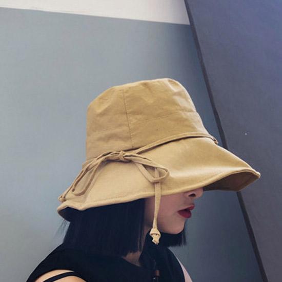 [당일발송][50% SALE] 린넨 리본 플로피 모자[HT#057]
