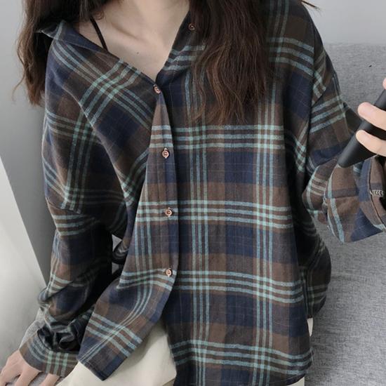 컬러믹스 체크 셔츠[SI#977]