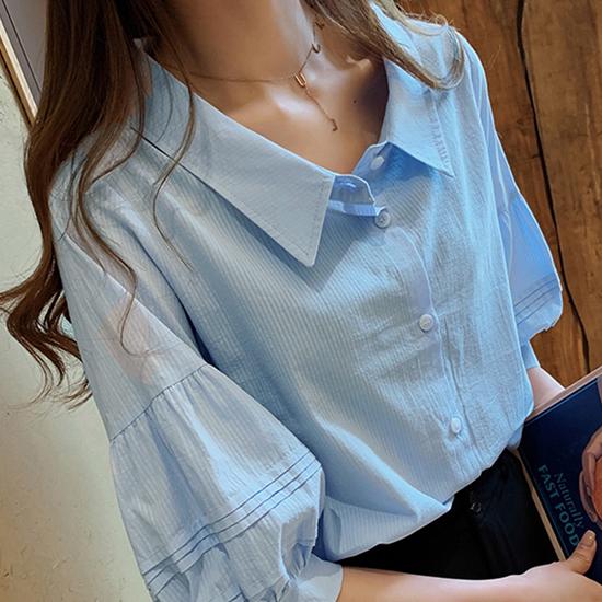 [7% SALE] 볼륨 퍼프 카라 셔츠[SI#854]