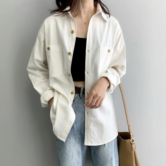 [당일발송] 코튼혼방 캐주얼 셔츠[SI#949]