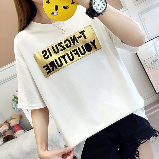 [7% SALE] 라운드 골드 와펜 티셔츠[TS#3042]