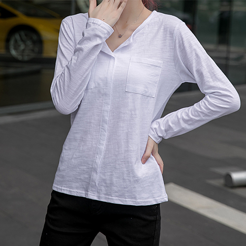 포켓 트임 티셔츠[TS#2999]