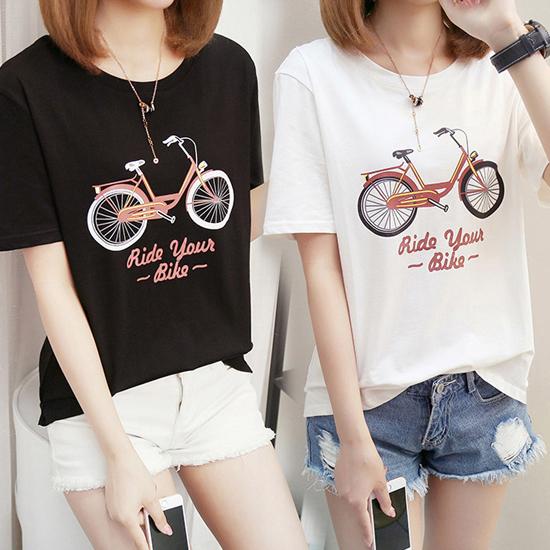 [당일발송] 자전거 라운드티[TS#3194]